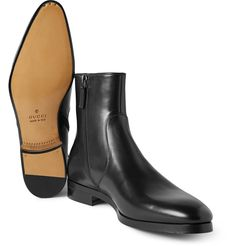 Gucci - Leather Boots | MR PORTER,- Wonderful boots with zipper;- a little over 800 euro a pair.