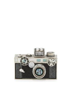 Judith Leiber Camera Clutch Bag, Cosmo Jet