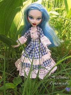 make a dress for a doll Monster high pattern how to tutorial skirt 8,5 на 40 см  I think