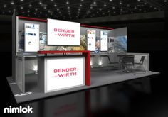Client Name: Bender + Wirth | Size: 10x20 | Welcome visitors at the reception desk - which also houses secure storage - and inform customers of your great products in the conference area all within this fully branded and comfortable environment. | More exhibits: http://xtremeexhibits.nimlok.com/custom-trade-show-exhibits/