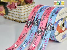 """5 Yards Piglet Winnie the Pooh Disney Pink Satin Ribbon 1 1//2/""""W"""