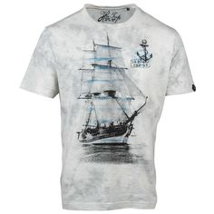 Buy Casual Grey Graphic Premium T-shirt for Men Online. Choose premium tees for men from a wide variety of colours & styles. Nautical Tees, Nautical Outfits, Men Online, Tshirts Online, Graphic Tees, Menswear, Mens Fashion, My Style, Casual