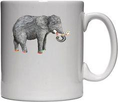 Sanatçı fil Kendin Tasarla - Beyaz Kupa
