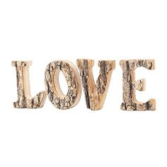 Decorative 4 Inch Country Rustic Exposed Wood LOVE Block Letters Sign * Read more reviews of the product by visiting the link on the image. #RusticHomeDecor