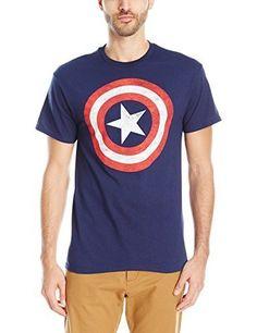 Navy Ages 3-12 Marvel Captain America Shield Boys kids T-Shirt