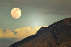 photos new mexico mountains with moon  | Mountain Photography Print 11x14 Fine Art New Mexico Full Moon ...