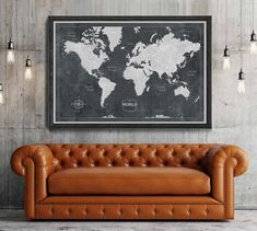 World map, World map poster, Adventure awaits, World map wall art, Large world map, Travel map, gift, black and white prints