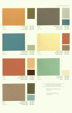 Mid-century color pallets; love them! * http://blog.onehomev.com/anti-establishment-but-optimistic/