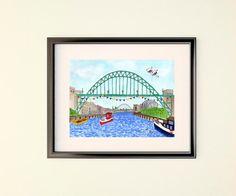 My latest painting!  Tyne Bridge