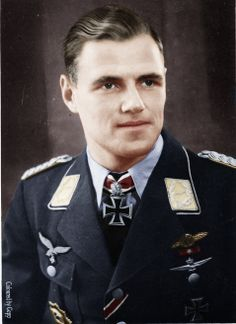 ✠ Joachim Müncheberg He is credited with 135 enemy aircraft shot down claimed in over 500 combat missions. The majority of his victories were claimed over the Western front with 33 claims over the Eastern Front. Of his 102 aerial victories achieved over the Western Allies are 46 Supermarine Spitfire fighters. http://en.wikipedia.org/wiki/Joachim_M%C3%BCncheberg