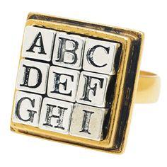 Tutorial - How to: The Alphabet Ring | Beadaholique