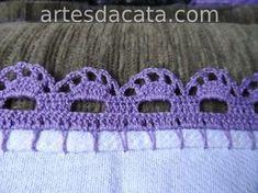 SAM_0383 Picot Crochet, Crochet Home, Crochet Trim, Crochet Crafts, Yarn Crafts, Crochet Stitches, Crochet Projects, Crochet Border Patterns, Crochet Boarders