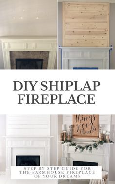 """Home Remodeling Diy """"A DIY How-To For The Farmhouse Shiplap Fireplace Of Your Dreams"""" Want to turn your drab fireplace and mantel into a shiplap, farmhouse-inspired focal point? This DIY How-To is just the thing for you. Shiplap Fireplace, Farmhouse Fireplace, Home Fireplace, Fireplace Remodel, Fireplaces, Rustic Fireplace Mantle, Fireplace Ideas, Fireplace Surrounds, Young House Love"""