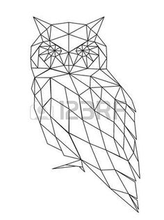 The Best Temporary Geometric Owl tattoos. Only EasyTatt Geometric Owl Tattoos Look Real, Use Your Own Design or Choose from Thousands of Designs. Geometric Owl, Geometric Drawing, Geometric Designs, Geometric Shapes, Owl Silhouette, Silhouette Vector, Stylo 3d, Polygon Art, Fake Tattoos