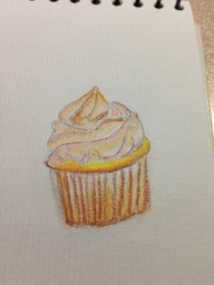 Caramel cupcake Cupcake Drawing, Caramel Cupcakes, Drawings, Desserts, Food, Sketches, Tailgate Desserts, Meal, Toffee Cupcakes