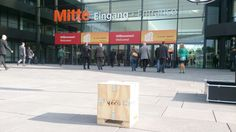 En el Fachpack de Nuremberg, Alemania Germany, Exhibitions, Door Entry