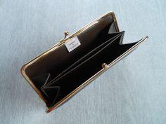がまぐち長財布(コンパクトタイプ) カーフヌメ革 ダークブラウンの画像2枚目
