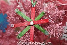 Snowflake Homemade Ornaments   AllFreeKidsCrafts.com