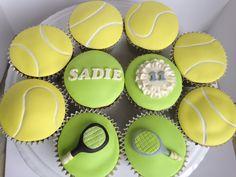 Tennis birthday cupcakes