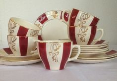 Egersund Tea Cups, Stavanger, Tableware, Norway, Design, Dinnerware, Dishes, Teacup, Design Comics