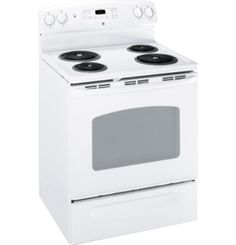 """JCBP240DTWW by General Electric Canada in Winnipeg, MB - GE 30"""" Free Standing Electric Self Cleaning Range Shop JS Furniture Gallery for all your appliance needs.  1725 Ellice Avnue, Winnipeg, http://furnitureandmore.ca"""