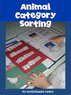 Interactive Animal Categories unit.  This great Interactive category sorting activity is a fun way for students with Autism/Kindergarten to learn about different types of animals and where they might live.   I've used visuals to support your teaching using Boardmaker symbols..