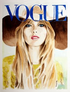 watercolor taylor swift | Vogue Taylor Swift Original Watercolor 9x12 by feelingartsystudio
