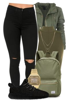 """""""""""You were born to be real, not to be perfect."""" - Unknown"""" by mindlesspolyvore ❤ liked on Polyvore featuring WearAll, Jessica Simpson, Herschel Supply Co., Casio and adidas Originals"""
