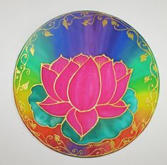 Lotus open heart and balanced chakras mandala