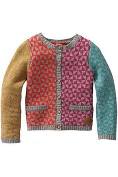 Oilily - The Official Website - Spring 2017 collection Sweater Knitting Patterns, Knit Patterns, Knitting For Kids, Baby Knitting, Use E Abuse, Textiles, Fair Isle Pattern, Fair Isle Knitting, Baby Sweaters