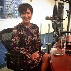 Pin for Later: The Stars Have Fallen to the Butterfly Effect Kris Jenner at SiriusXM Studios Source: Instagram user siriusxm