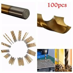 100pcs 1.5mm – 10mm Titanium Coated Drill Bit Set High Speed Steel Manual Twist Drill Bits  Worldwide delivery. Original best quality product for 70% of it's real price. Buying this product is extra profitable, because we have good production source. 1 day products dispatch from...