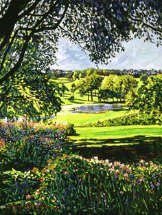 English Country Pond Painting by David Lloyd Glover