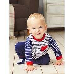 """Little Me Boys 3 Piece Navy/White Striped Long Sleeve Top with Whale Graphic Print, Navy Drawstring Jogger and Sock Set - Mamiye Brothers - Babies """"R"""" Us"""