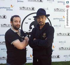#Repost @terrorweekend.  Entrevistando a #SimonYam en @sitgesfestival #Sitges2015