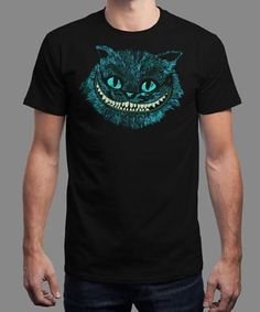 """Cheshire Head"" is today's £8/€10/$12 tee for 24 hours only on www.Qwertee.com Pin this for a chance to win a FREE TEE this weekend. Follow us on pinterest.com/qwertee for a second! Thanks:) (This promotion is in no way sponsored endorsed or administered by or associated with Facebook.)"