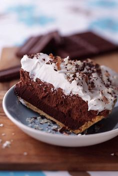 The Deen Bros Truffle Pie - The layers of chocolate in this pie are mind-boggling. We make it for dessert whenever we have chocoholics over. Remember to start making this the day before so the pie can firm up in the fridge.