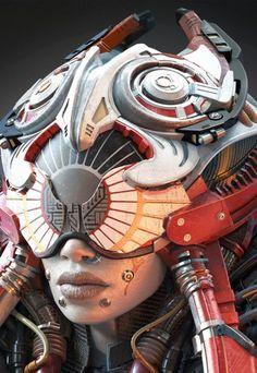 CyberClays female futuristic alien helmet design, epic helmet concept art Future Armor, military helmet for a woman warrior, fighter robot suit concept art and design HELMET ancient sci fi style, Cyberpunk, Android, Robot, Futuristic, Sci-Fi, Military, Star gate, Cyborg, Clothing, Fashion, Future, Armor, Mask