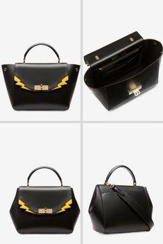 32fedfd9d1 B TURN SMALL WOMEN S CALF LEATHER TOP HANDLE BAG IN BLACK