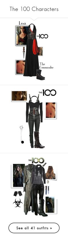 """""""The 100 Characters"""" by gone-girl ❤ liked on Polyvore featuring the100, theark, Grounder, Elie Saab, Christian Dior, AllSaints, commanderlexa, lexa, S.W.O.R.D. and Ann Demeulemeester"""