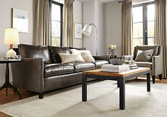 """Bram Leather Sofas - Sofas - Living - Room & Board, 88""""w 34""""d 32""""h (34""""h with cushion)"""