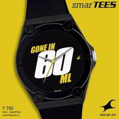 Bite your tongue. Say it with one of the #SmarTEES   www.fastrack.in/product/9946PP08  #Fastrack #Lines #Tees #Watch #Black #Fashion