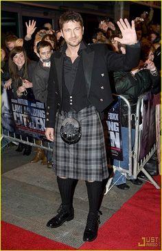 Gerry Butler rocks a Kilt at Glasgow Premiere of Law Abiding Citizen, 2009.