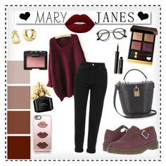 """""""Untitled #171"""" by gina-cremont ❤ liked on Polyvore featuring White Label, Tom Ford, Dolce&Gabbana, Marc Jacobs, BERRICLE, NARS Cosmetics, Casetify, Lancôme, Lime Crime and Topshop"""