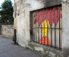 many great examples of street art that plays with its surroundings