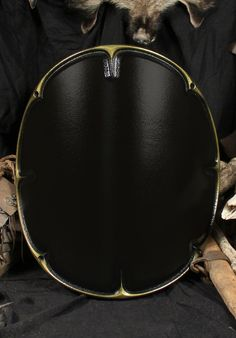 Round Shield Skirmisher black/gold from Chaos 2nd Edition designed by Forgotten Dreams Design