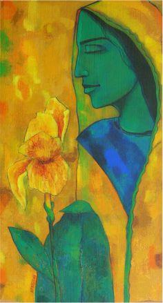 Avinash-Mokashe-Meditation #Acrylic on #Canvas #Paintings #Eikowa #Arts #IndianArts #Online EK-15-0021-AC-0007-34x18