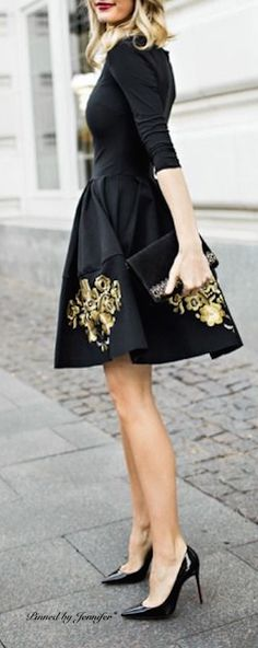 LBD & Gold Accents.