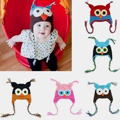 Baby Owl Knit Hat  #babyhats #babyheadbands #baby    I bet your baby will love it #babytibet