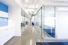 Illuminated office environment by Artopex.